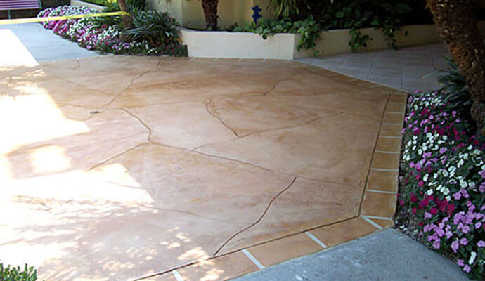Stamped Concrete Floor Finishes : Pool deck balcony decorative finishes faux concrete