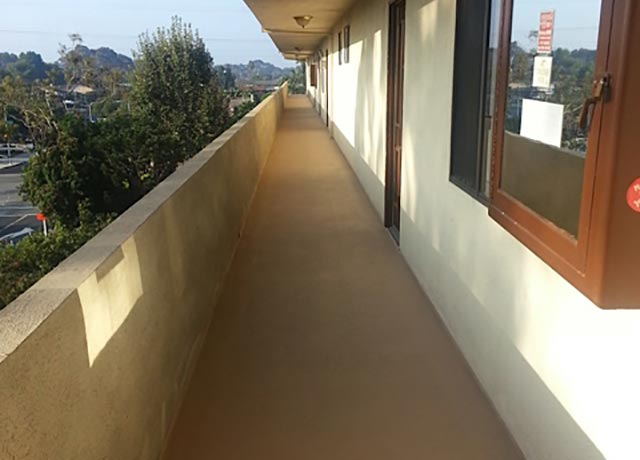 Brea Balcony Concrete Staining