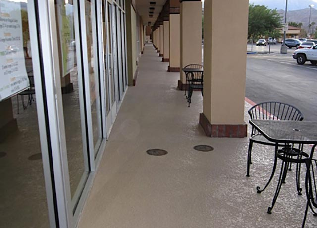 Aliso Viejo Commercial Walkway Overlaying