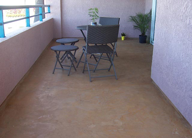 Patio Overlay Floor Concrete Coating