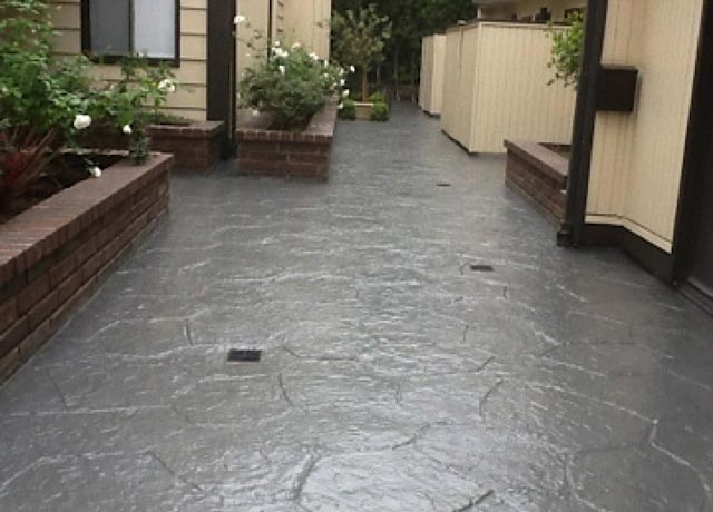 Outdoor Courtyard Stain Floor