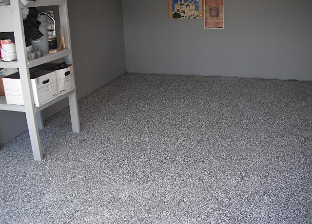 Laguna Beach Garage Concrete Stain Floor