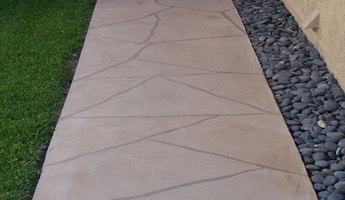 Residential Walkways Faux Tile Design